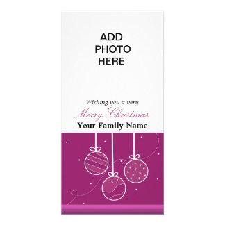 Classy Ornament Photo Card