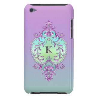 Classy, Ornate Diamonds Monogram iPod Touch Case-Mate Case
