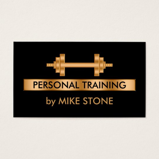 classy personal trainer business card