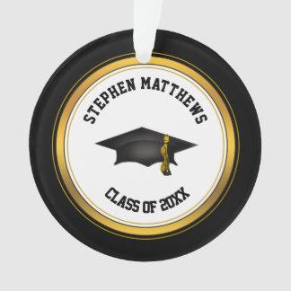Classy Personalized Graduation Cap and Tassel Ornament