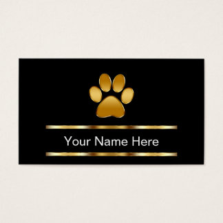 Classy Pet Care Business Cards