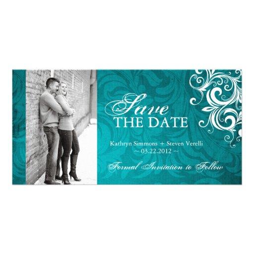 Classy Photo Save The Date Invitation Photo Card Template