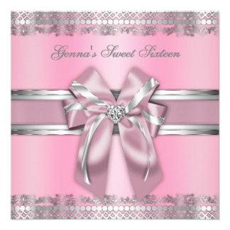 Classy Pink and Silver Invite