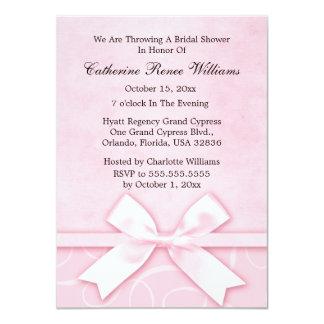 Classy Pink Bridal Shower Invitation
