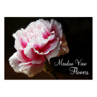Classy Pink Carnation Floral Photo Business Cards