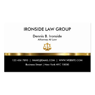 Classy Professional Attorney Pack Of Standard Business Cards