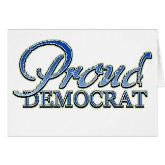 Classy Proud Democrat Greeting Card