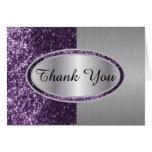 Classy Purple Glitter Brush Steel Metal Look