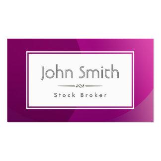Classy Purple Stock Broker Business Card