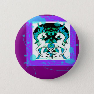 Classy Purple Unicorn Gifts by Sharles 6 Cm Round Badge