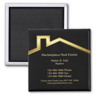 Classy Real Estate Business Magnets
