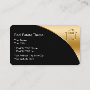 Luxury real estate agent business cards business card printing classy real estate theme business cards reheart Image collections