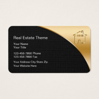 Classy Real Estate Theme Business Cards