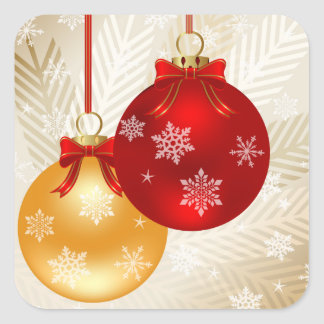 Classy Red and Gold ornaments Stickers