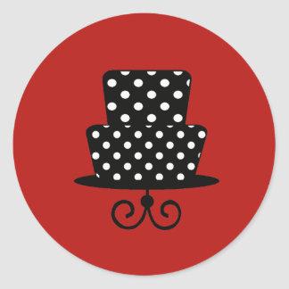 Classy Red & Black Stickers