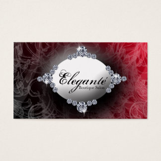 classy red design business card