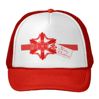 Classy Red Lace Christmas Cap