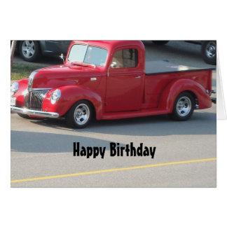 Classy Red Truck - Happy Birthday Card