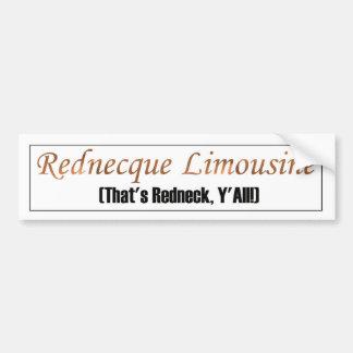 Classy Redneck Limousine Bumper Sticker