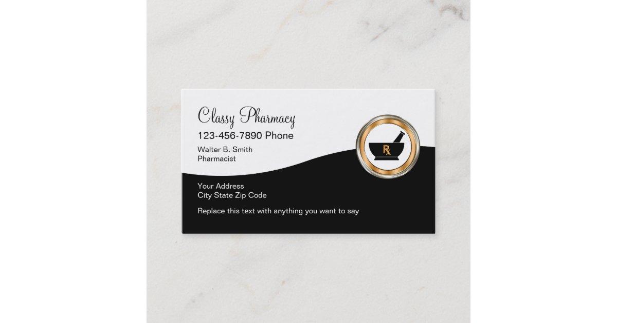 Classy Retail Pharmacy Business Card | Zazzle.co.uk