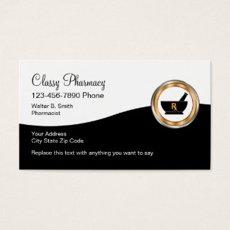 Classy Retail Pharmacy Business Card