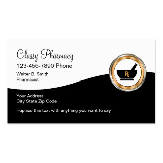 Classy Retail Pharmacy Pack Of Standard Business Cards
