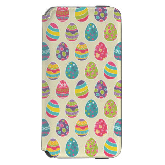 Classy Retro Easter Eggs Happy Easter Day Incipio Watson™ iPhone 6 Wallet Case
