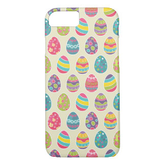 Classy Retro Easter Eggs Happy Easter Day iPhone 7 Case