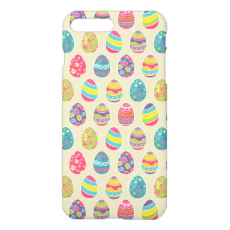 Classy Retro Easter Eggs Happy Easter Day iPhone 8 Plus/7 Plus Case