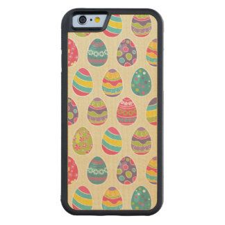 Classy Retro Easter Eggs Happy Easter Day Maple iPhone 6 Bumper