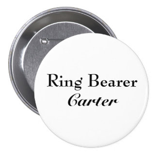 Classy Ring Bearer Button