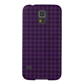 Classy Royal Purple Plaid Samsung Galaxy S5 Case