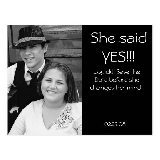 Classy save the date post card