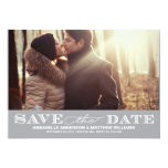 Classy Save the Date PostCard 13 Cm X 18 Cm Invitation Card