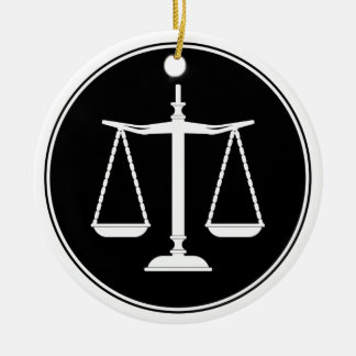 Classy Scales of Justice | Law Gifts Christmas Ornament