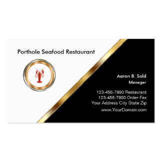 Classy Seafood Restaurant Pack Of Standard Business Cards