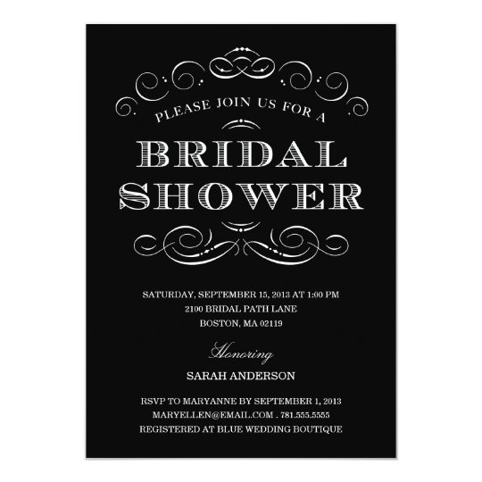 CLASSY SHOWER   BRIDAL SHOWER INVITATION