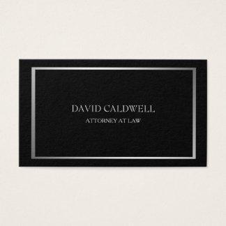 Classy Silver Frame Minimalist on Black