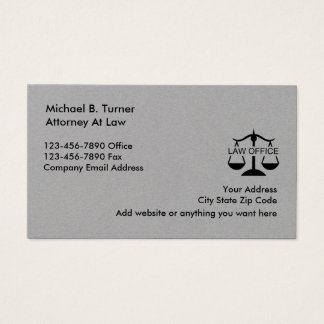 Classy Simple Attorney Business Card