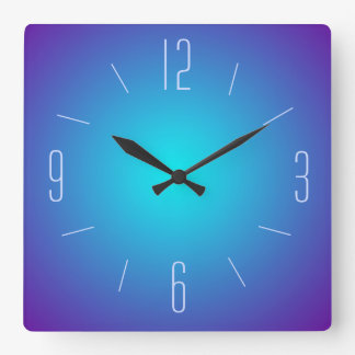 Classy Simplistic Blue Illuminated>  Wall Clock