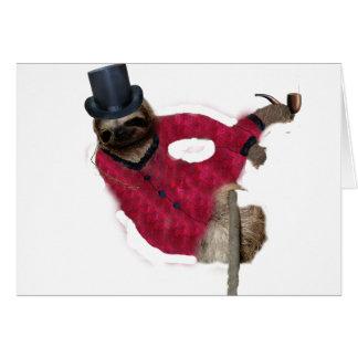 classy sloth card