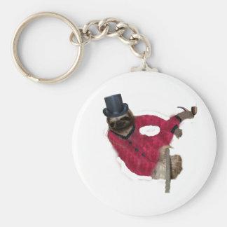 classy sloth key ring