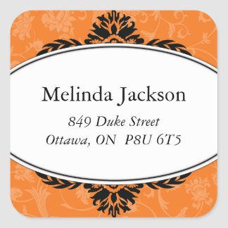 Classy Square Address Labels Square Sticker
