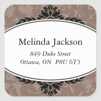 Classy Square Adress Labels Square Sticker