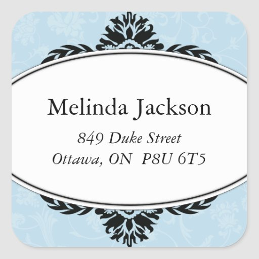 Classy Square Adress Labels Sticker