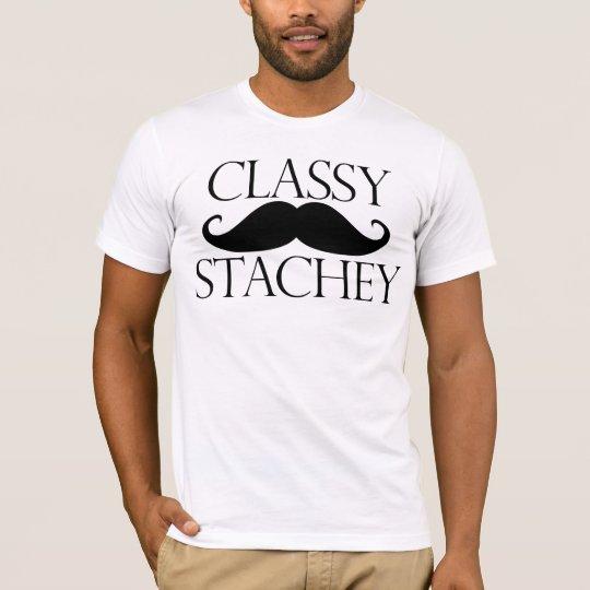 Classy Stache Moustache T-Shirt