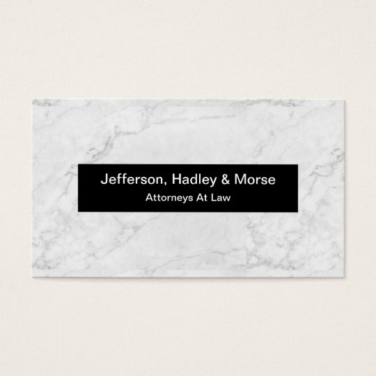 Classy Stone Marble Look Attorney Businesscards Business Card