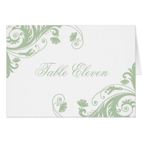 Classy Table Seating Number Cards