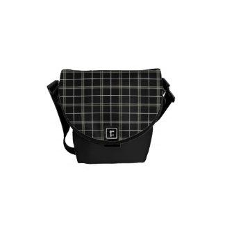 Classy Tan and Black Plaid Mini Bag Messenger Bags
