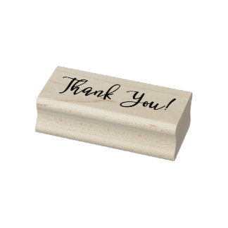 Classy Thank You Rubber Stamp